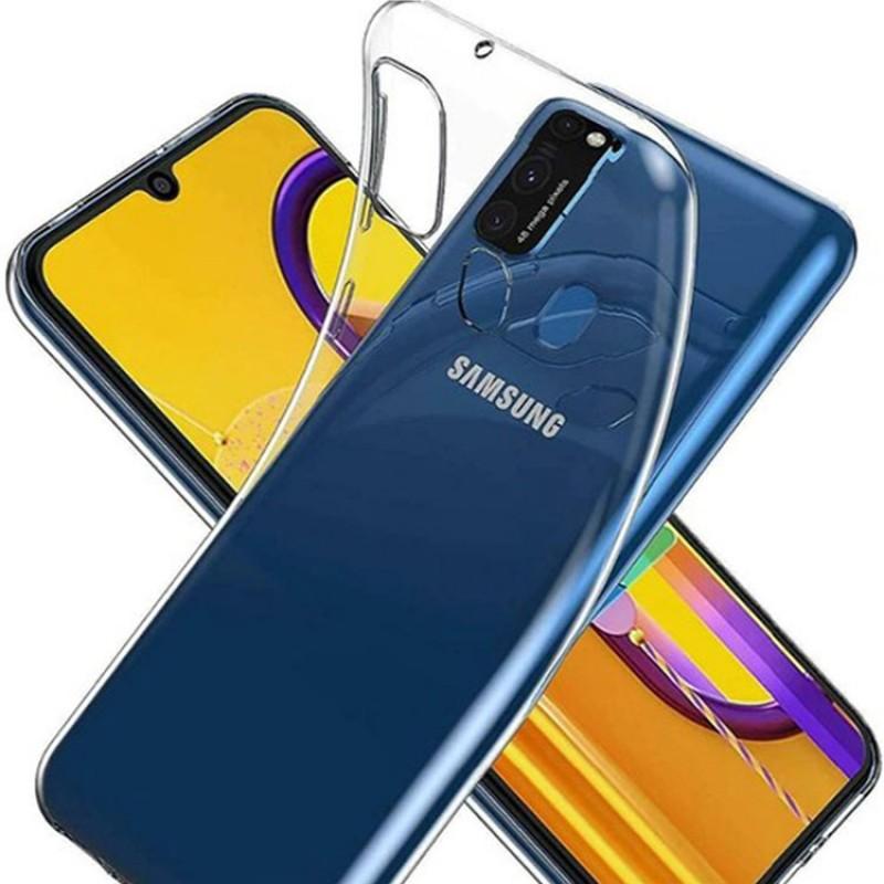 Case 4U Samsung Galaxy M31 Kılıf Süper Silikon Arka Kapak Şeffaf
