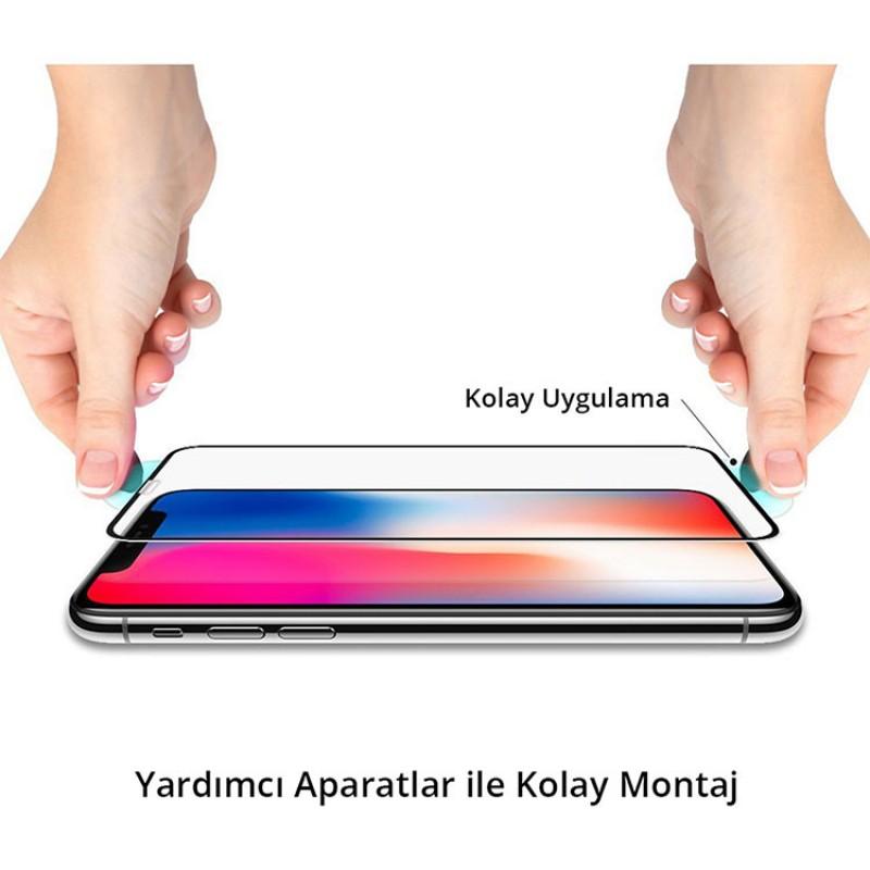 Spigen Apple iPhone 11 Pro / iPhone XS / iPhone X Cam Ekran Koruyucu Tam Kaplayan Full Cover Black