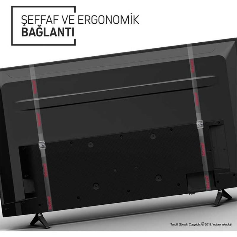 Notvex 55 İnç 140 Ekran Curved Tv Ekran Koruyucu ve Güvenlik Aparatı