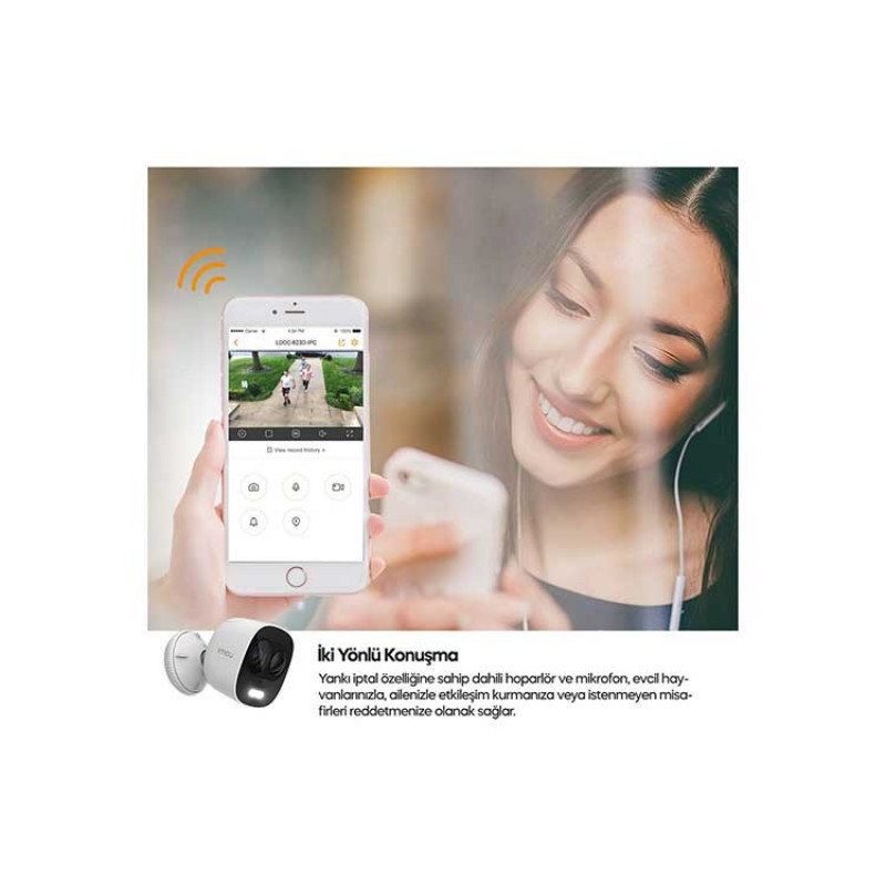 Imou Smart Looc C26E Kızılötesi Gece Görüş ve Hareket Algılamalı IP Kamera