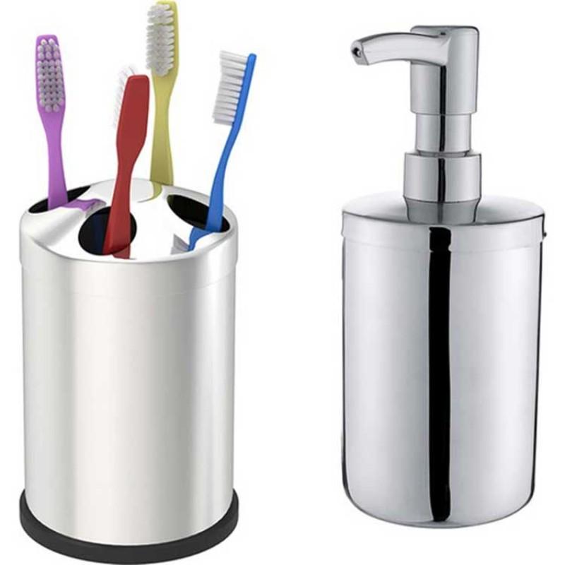 Baymera 5 Litre Çöp Kovalı Sabunluklu Banyo Seti