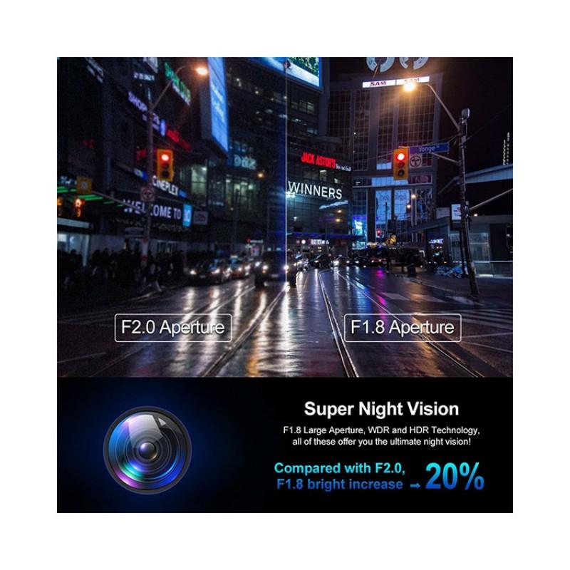 70Mai Pro Akıllı Araç İçi Kamera -140° Geniş Açı Lens - 1944p - Gece Görüşü - Sesli Kontrol - Global Versiyon