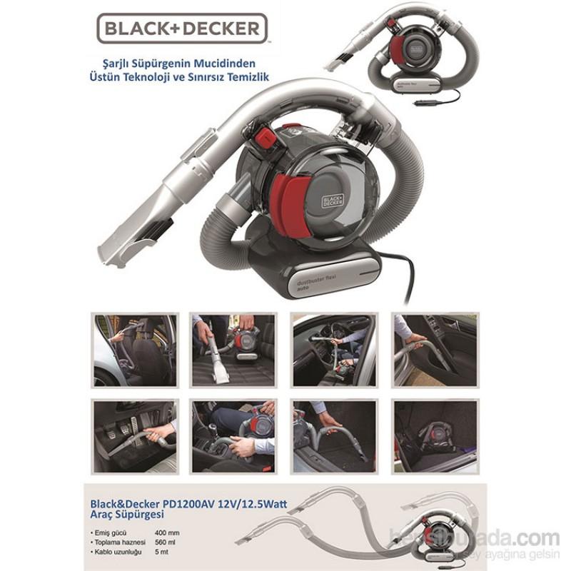 Black&Decker PD1200AV 12V/12.5Watt Araç Süpürgesi