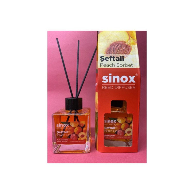 Sinox Şeftali Bambu Çubuklu Oda Kokusu 120ML