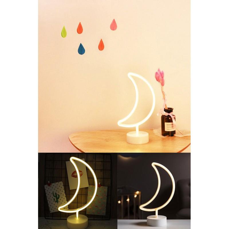 Ay Tasarımlı Neon Led Gece Lambası