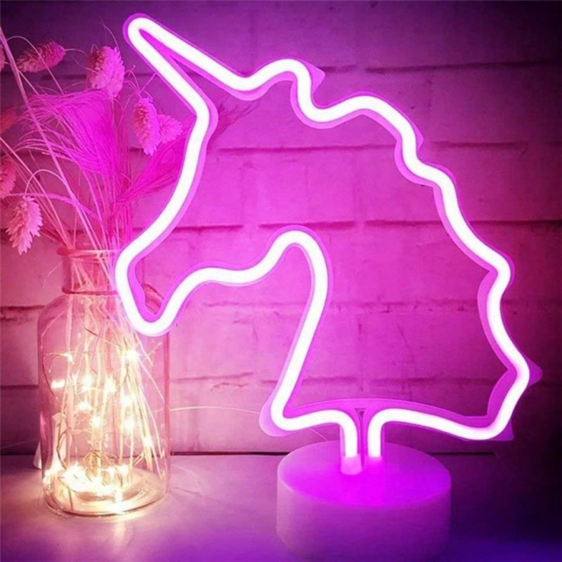 Unicorn Neon Led Masa ve Gece Lambası