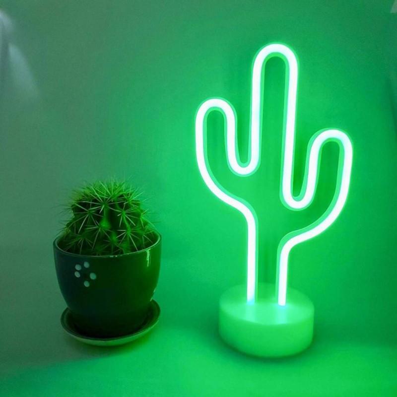 Kaktüs Neon Led Masa Lambası