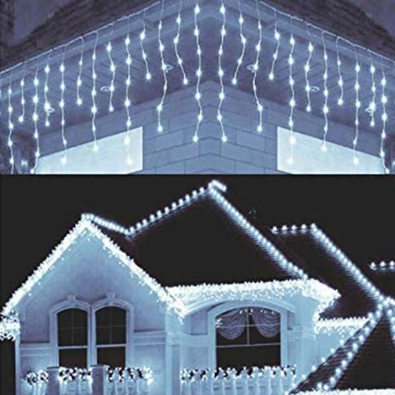 Dekoratif 16 Saçaklı 8 Fonksiyonlu Perde Led (Beyaz)