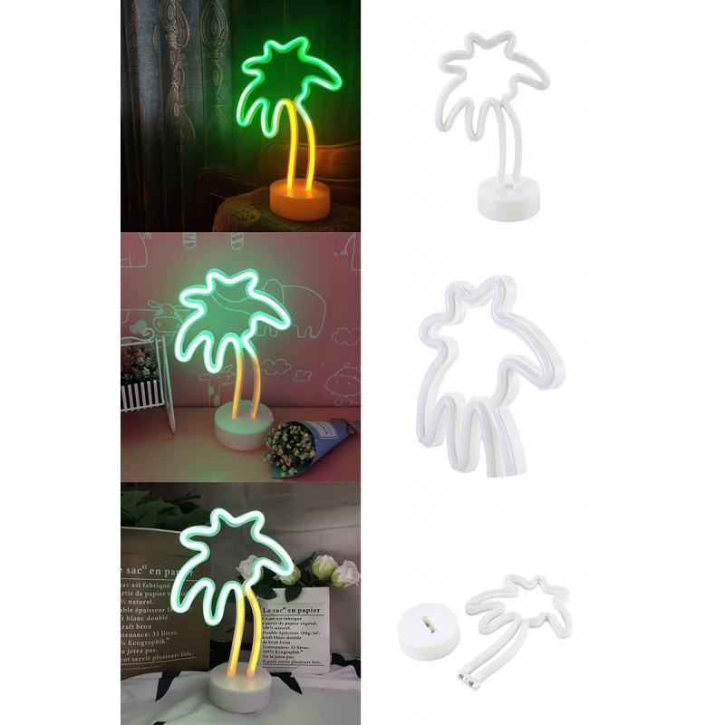 Palmiye Ağacı Neon Led Masa Ve Gece Lambası