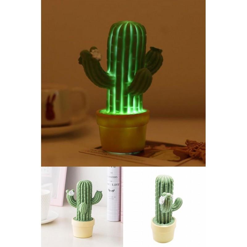 Mini Kaktüs Led Masa Ve Gece Lambası