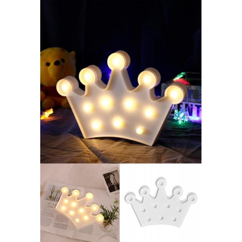 Led Kraliçe Tacı Masa ve Gece Lambası