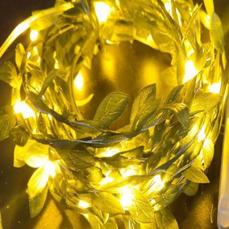 Yapraklı Led Işık Yılbaşı Kapı Süsü