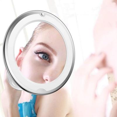 Led ışıklı 360 derece dönebilen Mercekli Makyaj Aynası