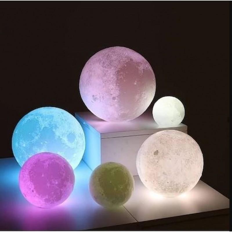 3 Boyutlu Ay Gece ve Masa Lambası