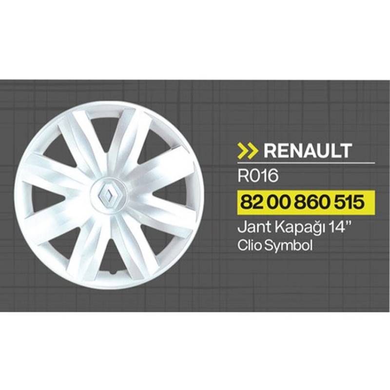 "Renault Clio - Kangoo - Aquares 14"" Jant Kapağı 4'lü Takım JKR016"