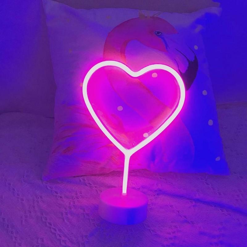 Kalp Neon Led Gece Lambası