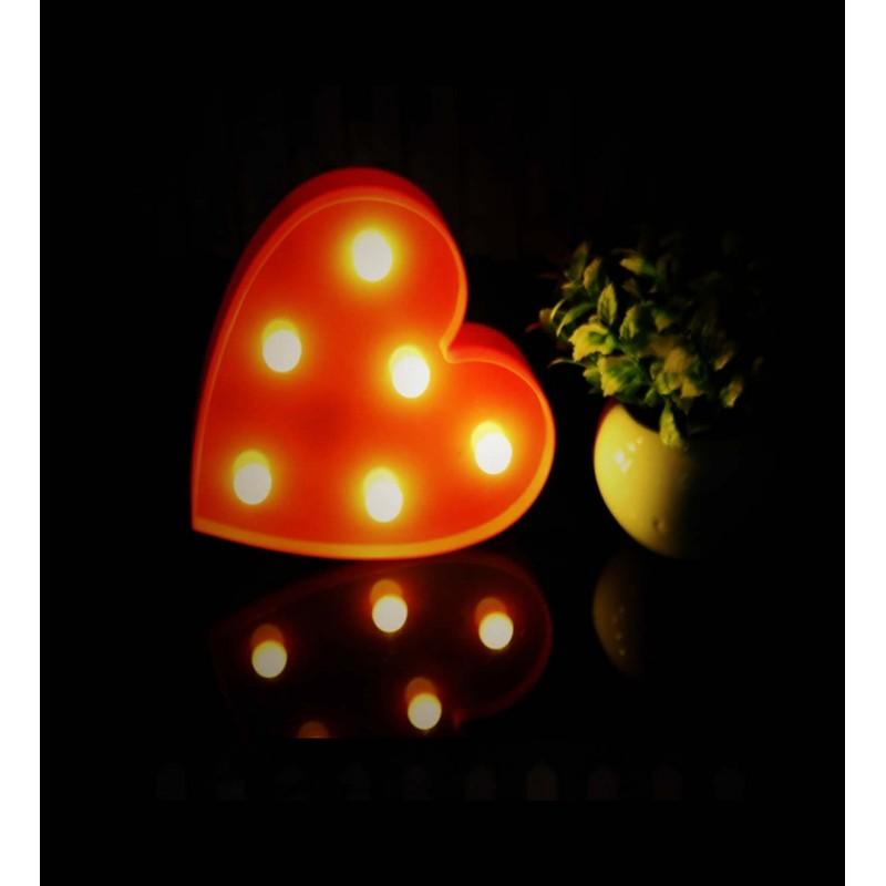 Kalp Led Gece ve Masa Lambası