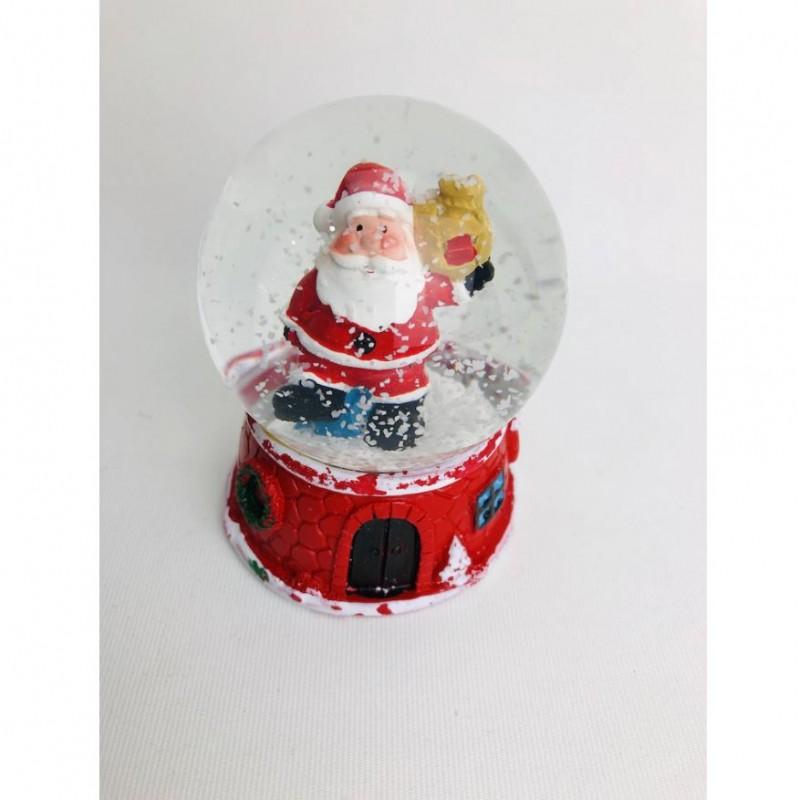 Noel Baba Işıklı Kar Küresi