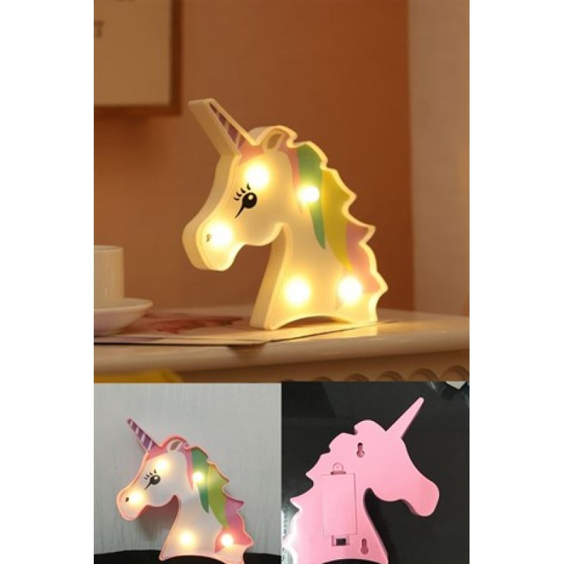 3D Unicorn Led Masa ve Gece Lambası