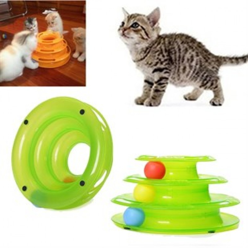 Tower Of Tracks Eğleneli Üç Katlı Kedi Oyuncağı