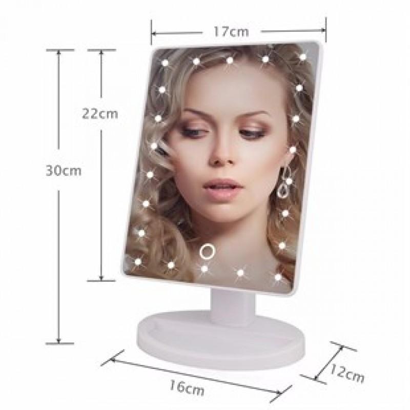 360 Derece Dönebilen Led Işıklı Masaüstü Makyaj Aynası