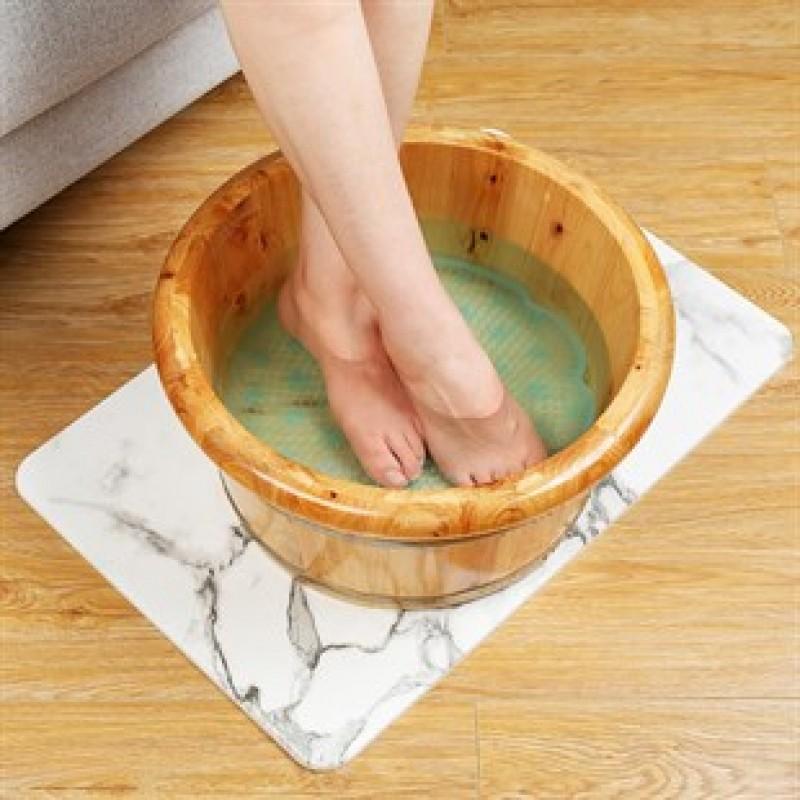 Silikon Fırçalı Banyo Masajı ve  Ayaklar için Topuk Masaj Minderi