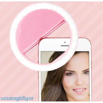 Telefon Selfie Işığı Şarjlı 3 Kademeli Ring Light