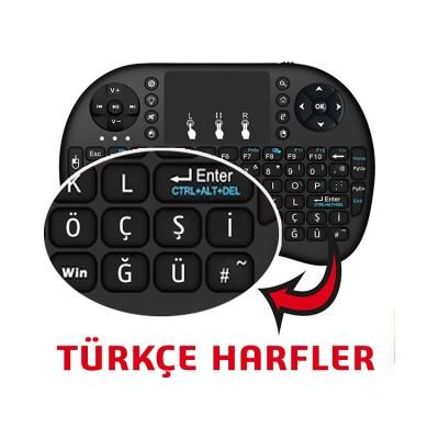 Işıklı Mini Klavye Mouse Özellikli (Türkçe)