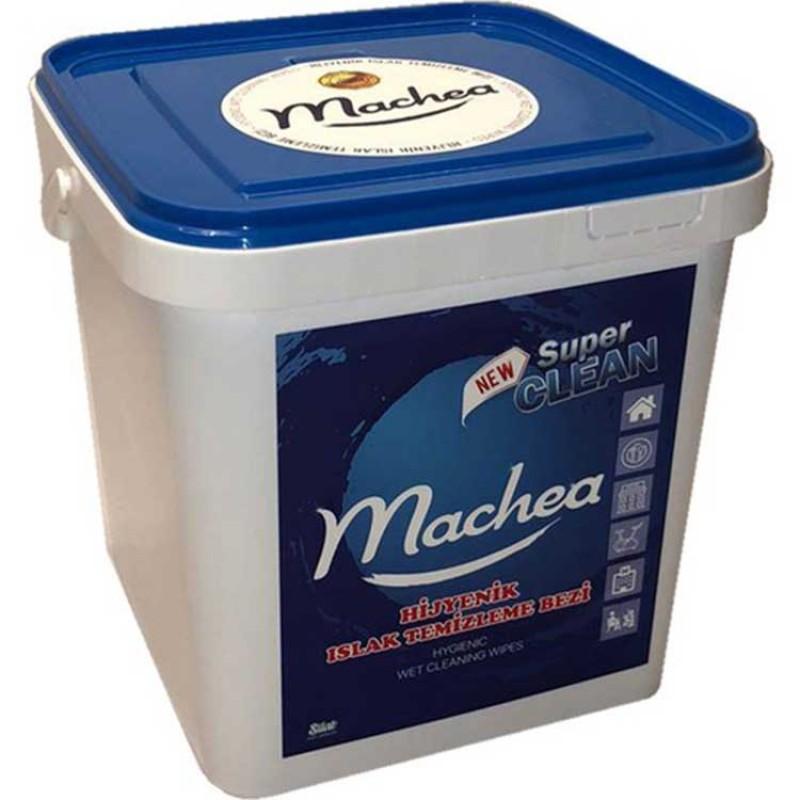 Machea Güçlü ve Detaylı Temizlik İçin Hijyenik Bez Mendil Kovası 250 Adet Hijyenik Bez Mendil