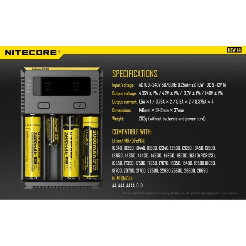 Nitecore New i4 Li-ion 18650 Pil Şarj Aleti