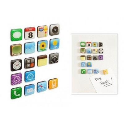 iPhone Teması Buzdolabı Magnetleri (18 Parça)