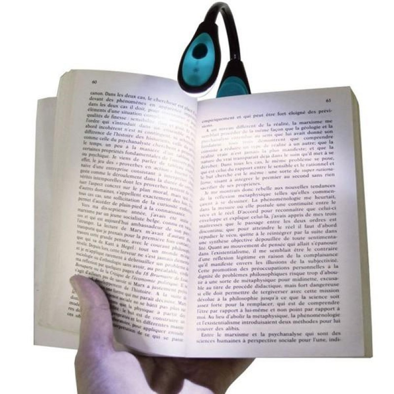 Mandallı Bükülebilir Kitap Okuma Işığı