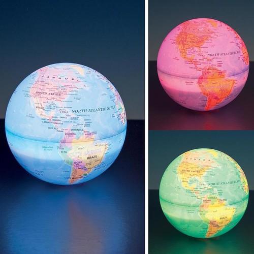 Dünya Görünümlü 6 Farklı Renge Sahip Gece Lambası