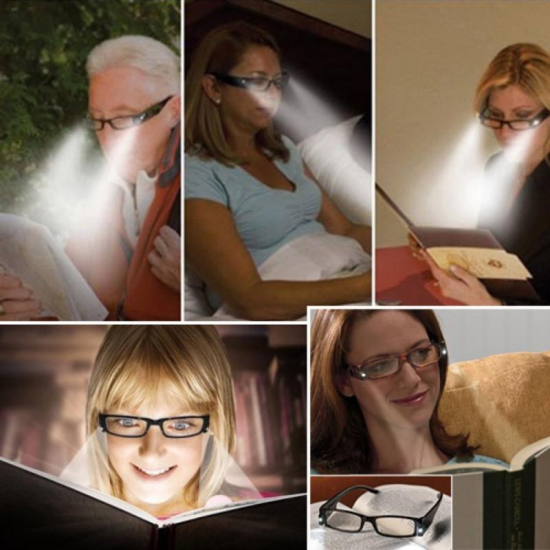 Mıknatıslı Led Işıklı Kitap Okuma Gözlüğü