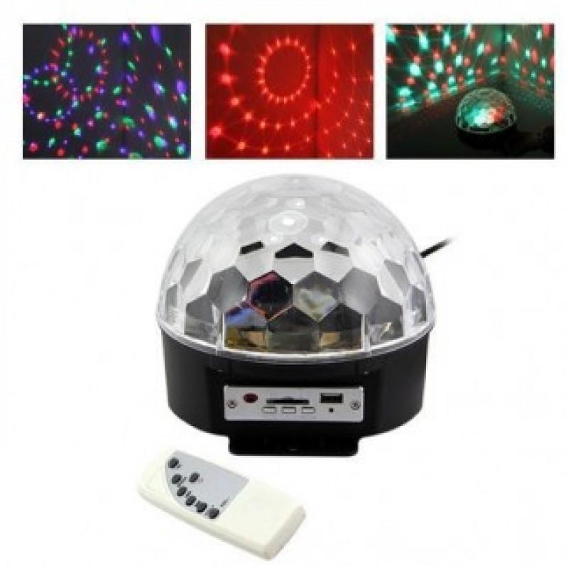 Lazer Işıklı Sahne Disko Topu USB Müzik Çalar