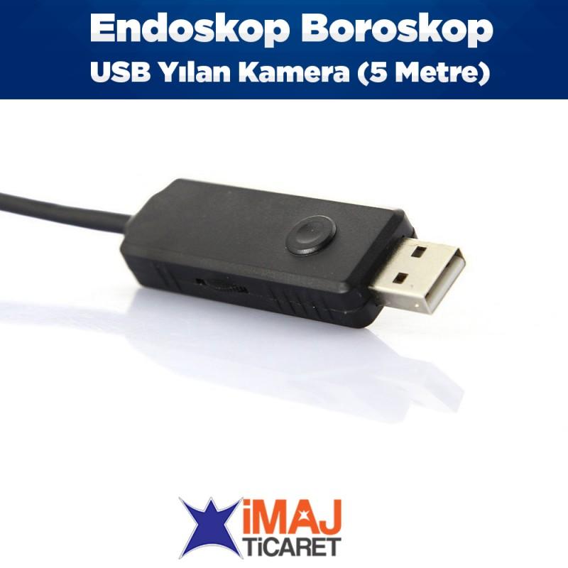 Endoskop Boroskop USB Yılan Kamera (5 Metre)
