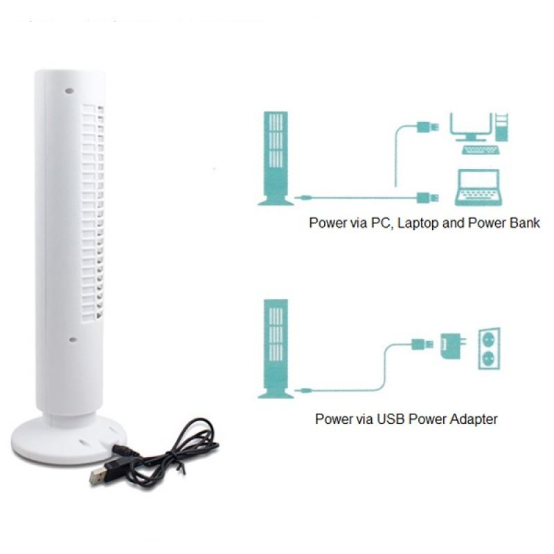 Sigara Dumanı Çekme Özelliğine Sahip Serinletici Mini Kule Fan