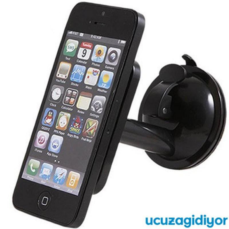 Araç İçi Telefon Tutucu (Vantuzlu Döner Başlıklı)