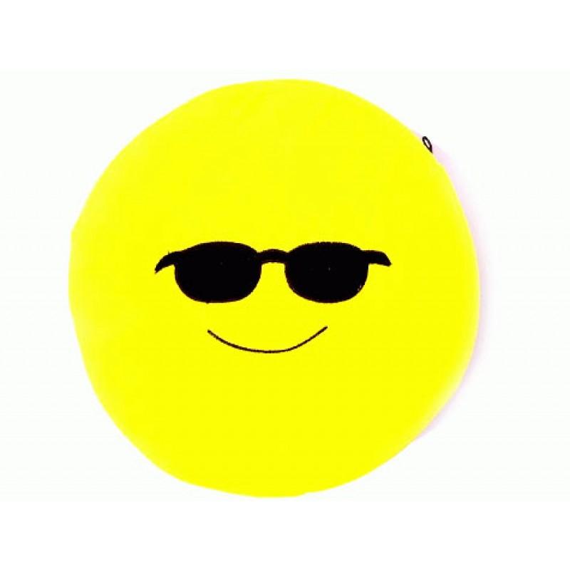 Emoji Yastık Gözlüklü