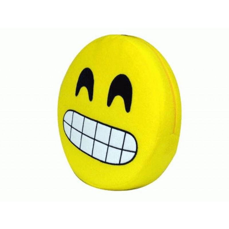 Emoji Yastık Sırıtan
