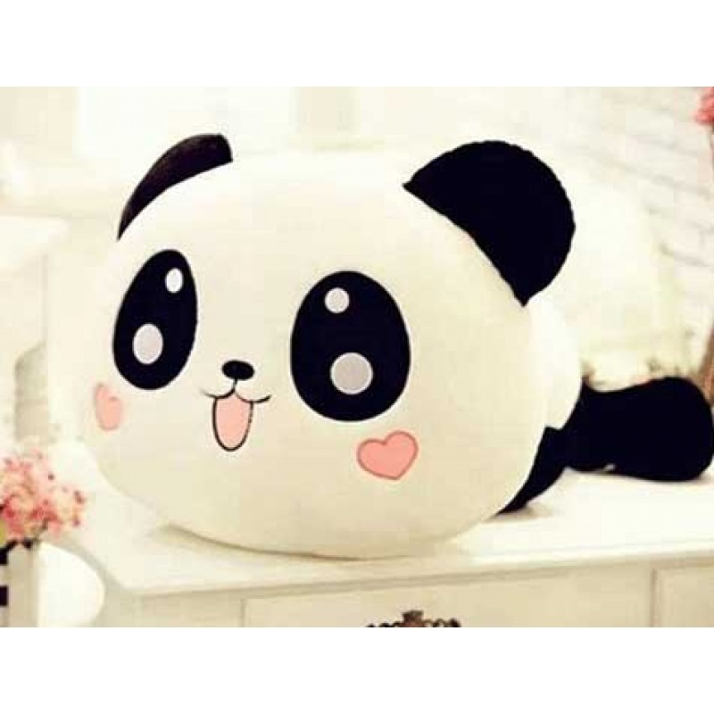 Panda Yastık Kalp Yanaklı